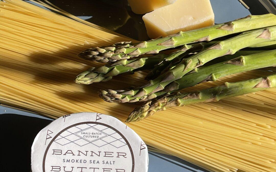 Roasted Asparagus with Smoked Sea Salt Butter & Lemon