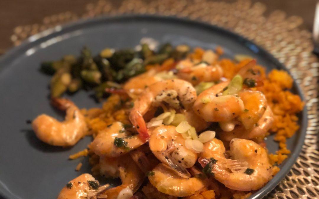 Lemon Chive Simple Sheet Pan Shrimp