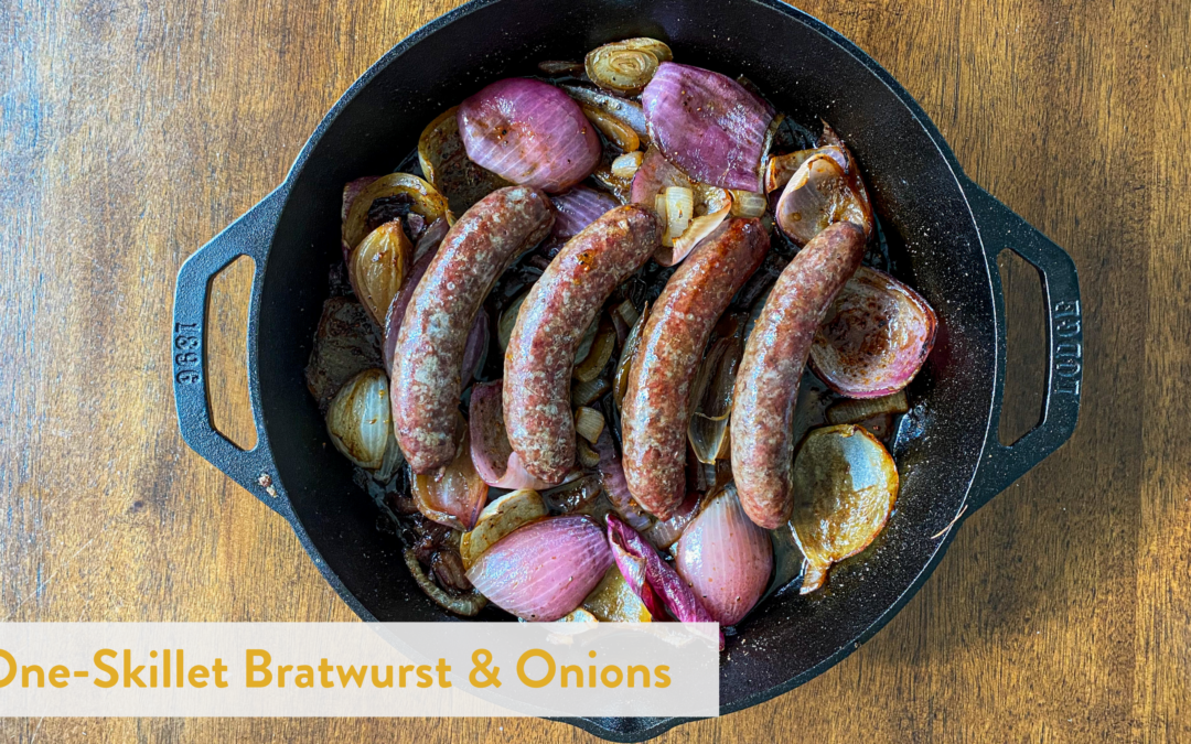 One-Skillet Bratwurst & Onions