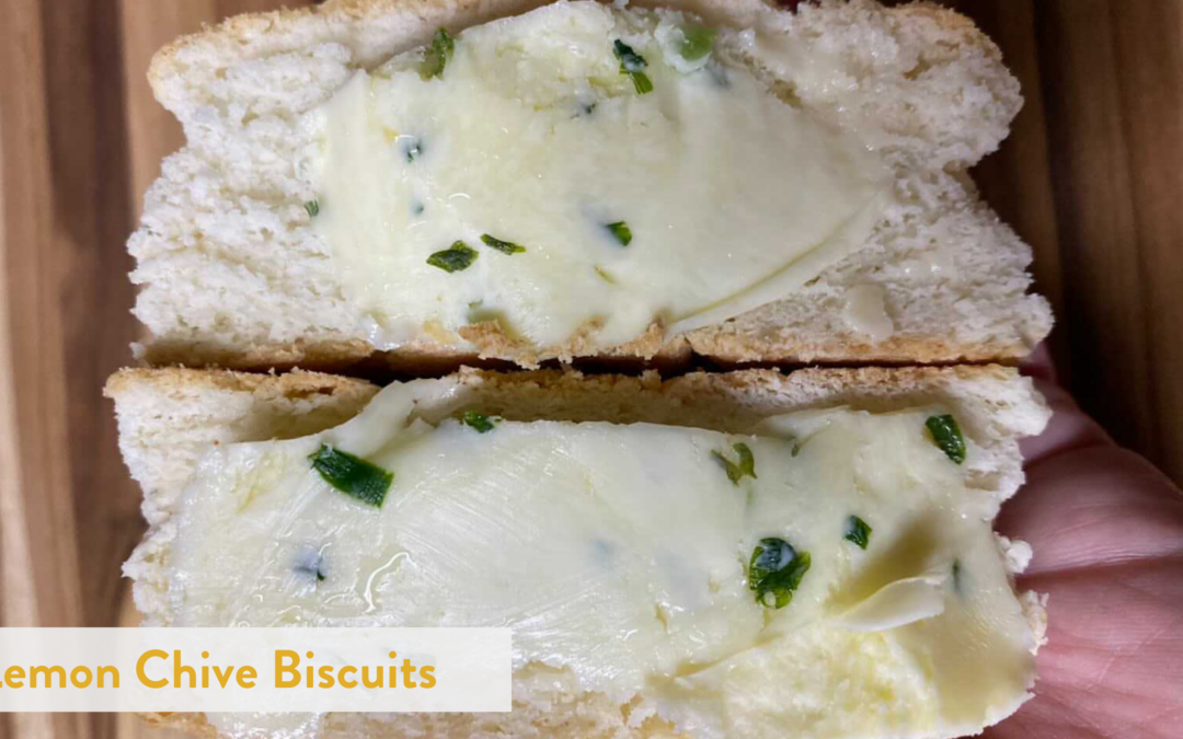 Lemon Chive Biscuits