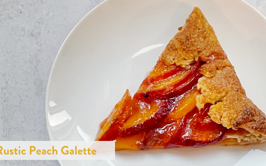 Rustic Peach Galette with Cinnamon, Cardamom, Ginger Pie Dough